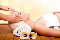 Relaxation pampering massage spa Stock Photos
