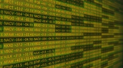 Stock Exchange Ticker Digital Wall Street Stock Footage