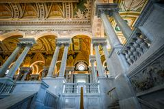 The interior of the Thomas Jefferson Building of the Library of Congress, in  Kuvituskuvat