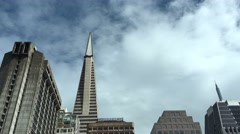 San Francisco Skyline Trans America Pyrmid Stock Footage