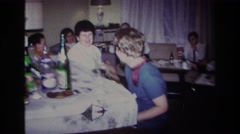 1967: friends gather for a special occasion. ROCKAWAY BEACH NEW YORK Stock Footage