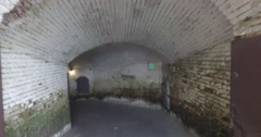 POV Walking Through Tunnels on Alcatraz Island Arkistovideo