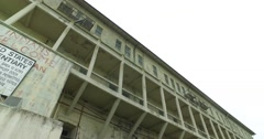 Looking Up at Barracks Building on Alcatraz Island  	 Arkistovideo