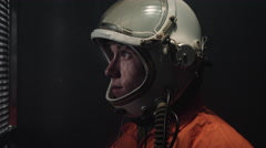 Astronaut Riding Elevator Stock Footage