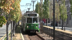 A Green Line MBTA electric tram (with audio) in Boston, MA. Stock Footage