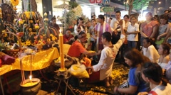 Nava Ratri for a Brahman ritual, Worship goddess Kali Stock Footage