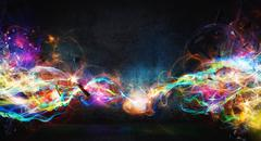 Modern abstract motion banner on dark background Stock Photos
