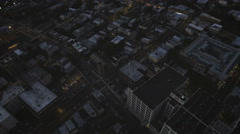 Urban city scape aerial at dawn. Stock Footage
