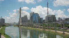 4K Time lapse San Paulo Morumbi Stock Footage