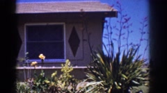 1962: zoom in garden aloe vera outdoor greenery YORBA LINDA CALIFORNIA Stock Footage