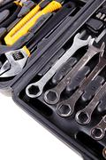 Toolbox with all you need tools Stock Photos