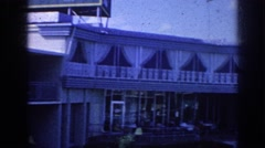 1963: family vacations by hotel pool MEMPHIS TENNESSEE Stock Footage