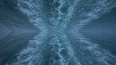 Mirror image of wave in the sea made by cruise ship Stock Footage