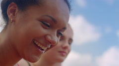 Smiling woman. Close up of girl smiling. Smile face. African woman smiling Stock Footage