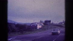 1963: driving on a road in a nice, rural area. MEMPHIS TENNESSEE Stock Footage