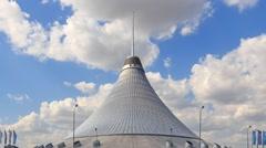 Astana, Kazakhstan - September 2016: The shopping center built in the shape Stock Footage