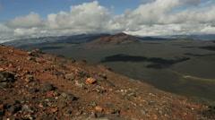 Climbing to northern break Great Tolbachik Fissure Eruption Stock Footage