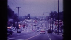 1963: a busy street in the city with many vehicles running to and fro MEMPHIS Stock Footage