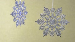 Shimmering diamond beautiful snowflakes. Stock Footage