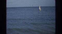 1968: sailing on a raft in the ocean. OCEAN CITY NEW JERSEY Stock Footage