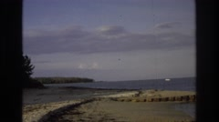 1968: boat on the lake in the far off distance. OCEAN CITY NEW JERSEY Stock Footage