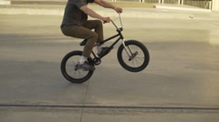 Bicycle back ride stunt - 50 fps High quality trick HD Stock Footage