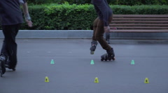 Inline rolling  - High quality footage - stunt Stock Footage