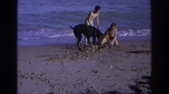 1968: playing around OCEAN CITY NEW JERSEY Stock Footage