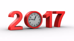New Year 2017 Stock Footage