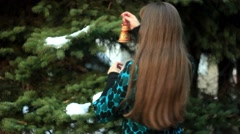 Hang on the Christmas tree toys Stock Footage