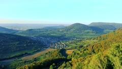 Swabian alps panorama view Stock Footage
