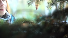 Hang on the Christmas tree toys Stock Footage