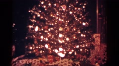 1962: twinkling lights from the past BLAINSPORT PENNSYLVANIA Stock Footage