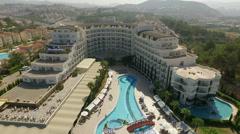 Aerial view of the hotel Amara Sealight Resort in Kusadasi,Turkey's Aegean coast Stock Footage