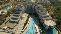 Amazing aerial view of the hotel in Kusadasi, Turkey's Aegean coast Stock Footage