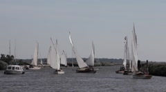 Sailing on the River Yare in Norfolk Stock Footage