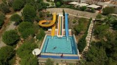 Water pool near the hotel Amara Sealight Resort, Turkey Stock Footage