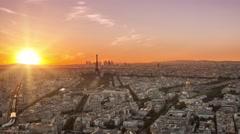 Paris skyline timelapse frrom day to night Arkistovideo
