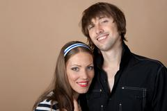 The young couple Stock Photos