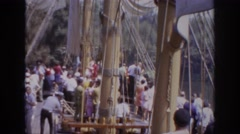 1962: people on ship DISNEYLAND CALIFORNIA Stock Footage
