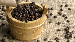 Coffee beans in slow motion Stock Footage