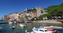 The town of Porto Venere, UNESCO World Heritage Site. Stock Footage