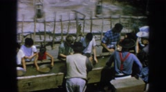1962: panning for gold: the tourist way DISNEYLAND CALIFORNIA Stock Footage