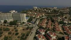 Aegean sea, aerial view on the resort in Turkey Stock Footage