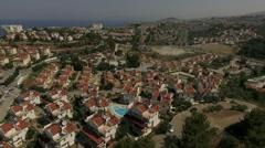 Resort town in Turkey, beauiful aerial view, Kusadasi, Turkey Stock Footage