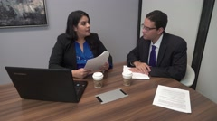 4K Video of Corporate Professional Man and Woman Meeting Stock Footage
