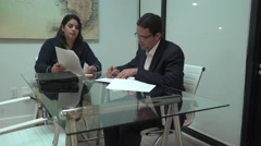 4K Motion Video of Corporate Professional Man and Woman Meeting Stock Footage