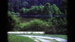 1962: the view of the river, the house and surrounding countryside. RALEIGH Stock Footage