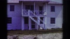 1962: beach, vacation, sand, sun RALEIGH NORTH CAROLINA Stock Footage