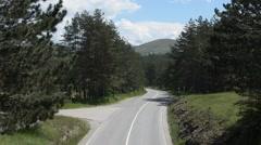 Empty Mountain Road Stock Footage
